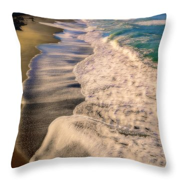 Chromatic Aberration At The Beach Throw Pillow