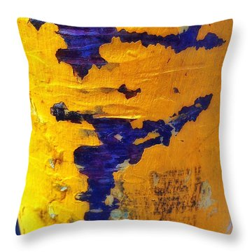 Chromatic Peels Throw Pillow by Olivier Calas
