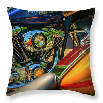 Throw Pillow featuring the photograph Chrome And Color by Samuel M Purvis III
