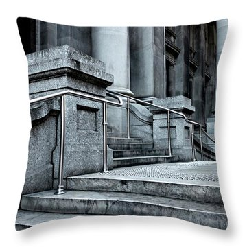 Chrome Balustrade Throw Pillow