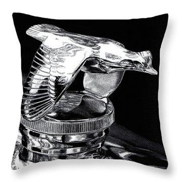 Chrome In Flight Throw Pillow