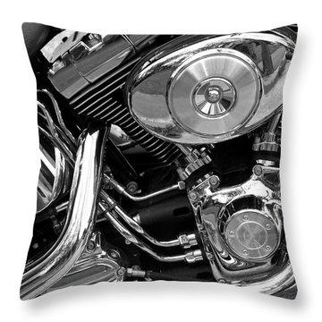 Chrome Throw Pillow by Lynda Lehmann