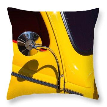 Chrome Mirrored To Yellow Throw Pillow
