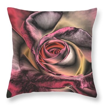 Chrome Rose 368 Throw Pillow