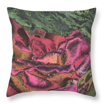 Chrome Rose 64182 Throw Pillow