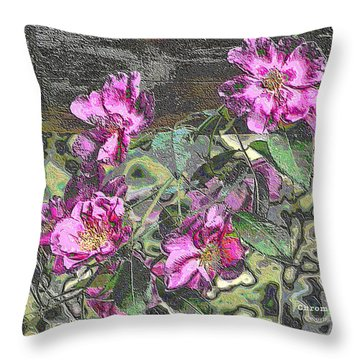 Chrome Roses 2666 Throw Pillow