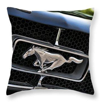 Chrome Stallion - Ford Mustang Throw Pillow by Gordon Dean II