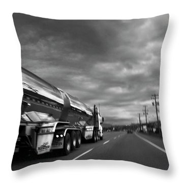 Chrome Tanker Throw Pillow by Theresa Tahara