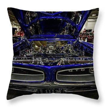 Chromed Goat Throw Pillow by Randy Scherkenbach