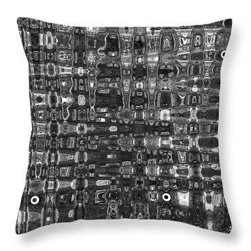 Throw Pillow featuring the photograph Chromosome 22 Bw by Diane E Berry