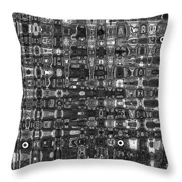 Chromosome 22 Bw Throw Pillow by Diane E Berry