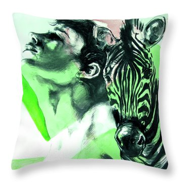 Chronickles Of Zebra Boy   Throw Pillow