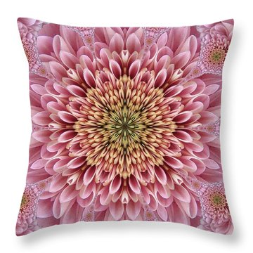 Chrysanthemum Beauty Throw Pillow