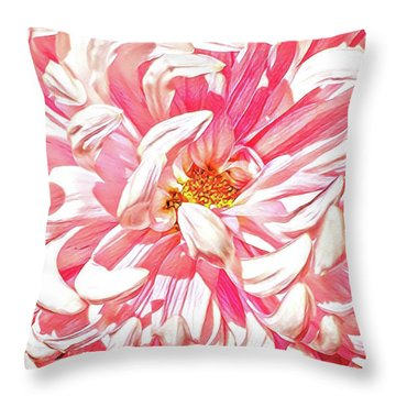 Chrysanthemum In Pink Throw Pillow