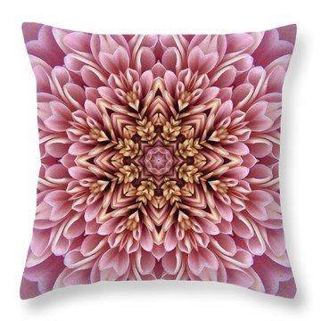 Chrysanthemum Kaleidoscope Throw Pillow