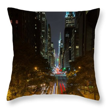 Chrysler Building At Night Throw Pillow by Chris McKenna