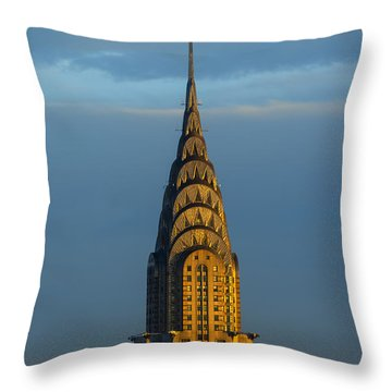 Chrysler Building In The Evening Light Throw Pillow