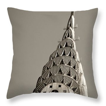 Throw Pillow featuring the photograph Chrysler Building New York City by Juergen Held