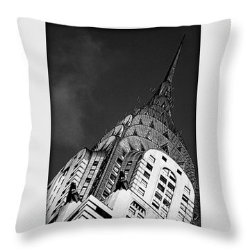 Chrysler Building's Apex Throw Pillow