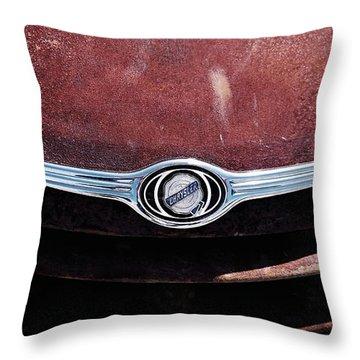 Chrysler Hood Throw Pillow