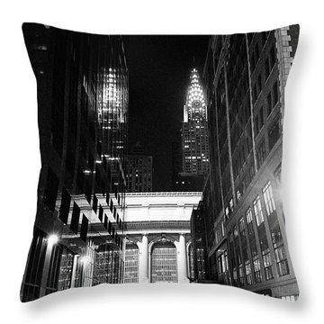 Chrysler Night Library Throw Pillow