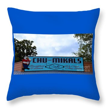 Chu - Mikals - Friendly Austin Texas Charm Throw Pillow