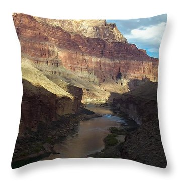 Chuar Butte Colorado River Grand Canyon Throw Pillow