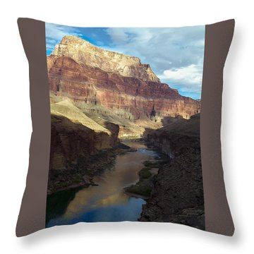 Chuar Butte Colorado River Grand Canyon Throw Pillow