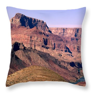 Chuar Butte  Grand Canyon National Park Throw Pillow
