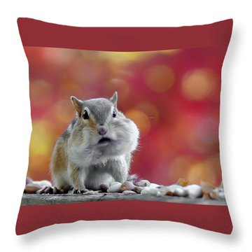 Chubby Cheeks Throw Pillow by Geraldine Alexander