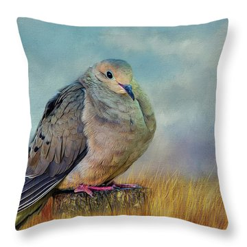 Chubby Dove Throw Pillow
