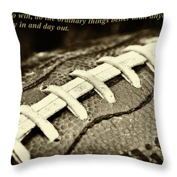 Chuck Noll - Pittsburgh Steelers Quote Throw Pillow by David Patterson