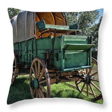 Chuck Wagon Throw Pillow
