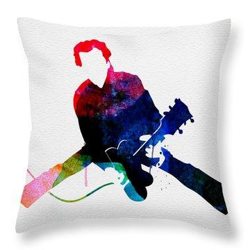 Chuck Watercolor Throw Pillow