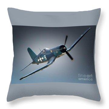 Chuck Wentworths F4u Corsair No.8 Throw Pillow