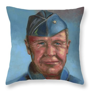 Chuck Yeager Throw Pillow