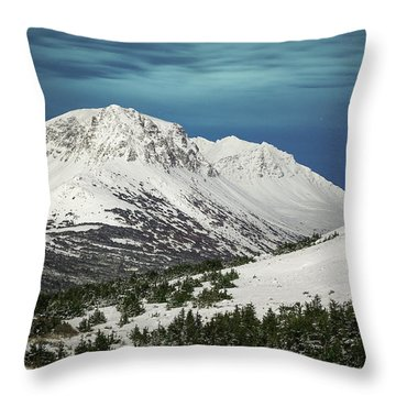 Throw Pillow featuring the photograph Chugach Night by Tim Newton