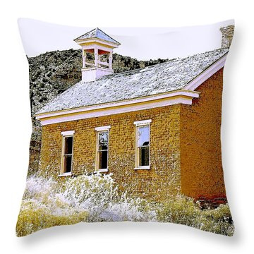 Church - Grafton Utah Throw Pillow