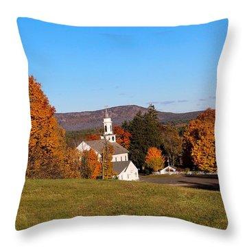 Church And Mountain Throw Pillow