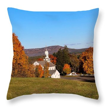 Church And Mountain Throw Pillow