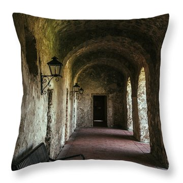 Church Arches Throw Pillow by Iris Greenwell