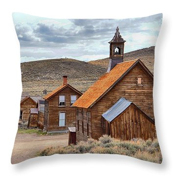 Church At Bodie Ghost Town Throw Pillow