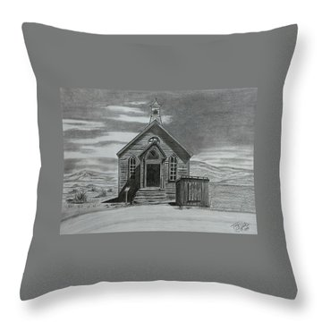 Church  At Bodie  Throw Pillow