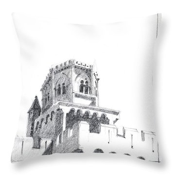 Church At Chamalieres Throw Pillow