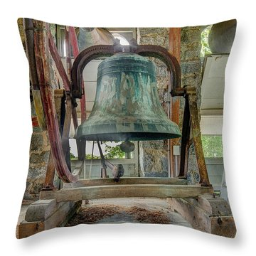 Church Bell 1783 Throw Pillow by Jim Proctor
