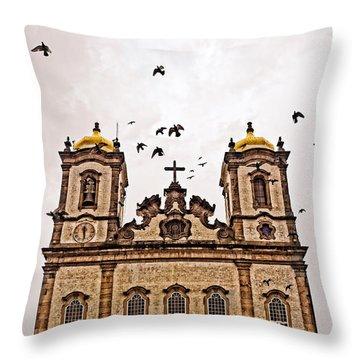 Throw Pillow featuring the photograph Church Birds by Kim Wilson