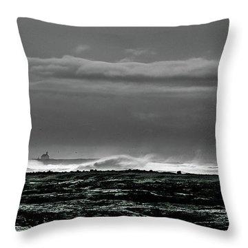 Church By The Sea Throw Pillow