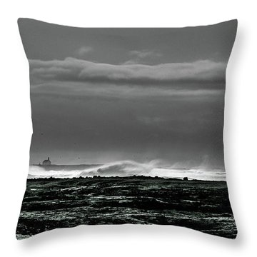 Church By The Sea Throw Pillow