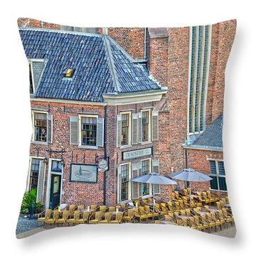 Throw Pillow featuring the photograph Church Cafe In Groningen by Frans Blok