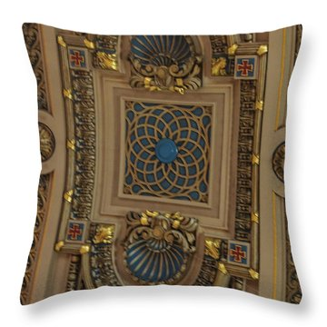 Church Ceiling Throw Pillow